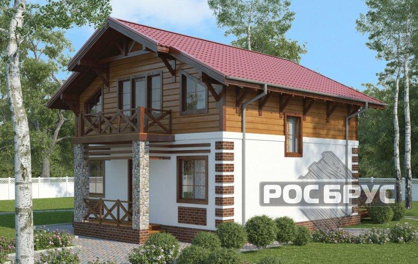 Проект каркасного дома КК-143, 10х8 м - главная
