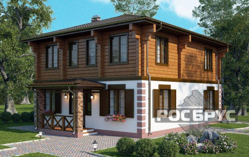 Проект комбинированного дома КД-180, 9х13 м - главная