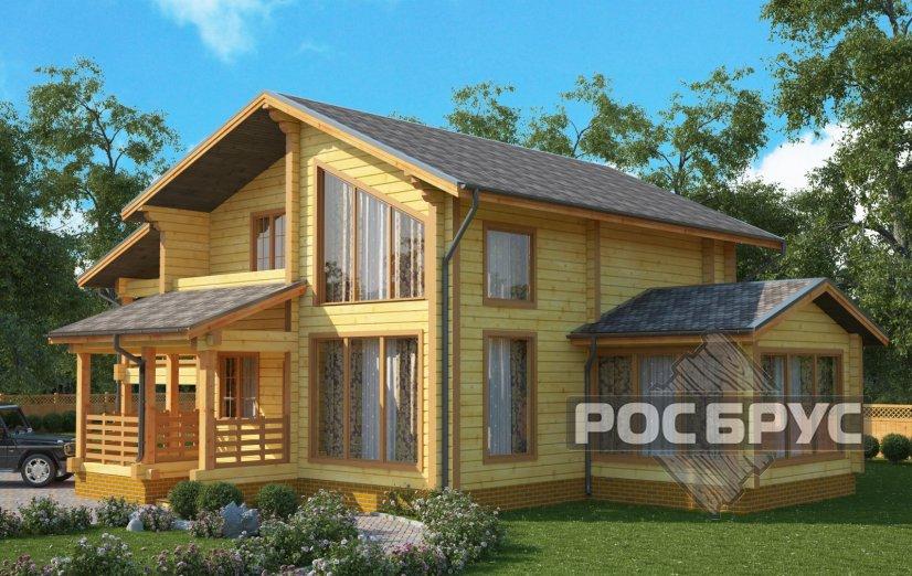 Проект дома из клееного бруса КБ-178, 12х12 м - главная