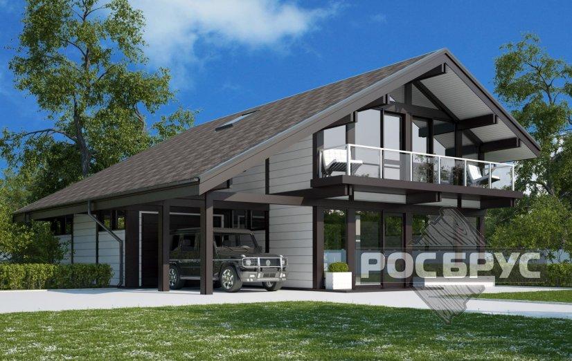 Проект фахверкового дома ФД-224, 12,5х11,3 м - главная