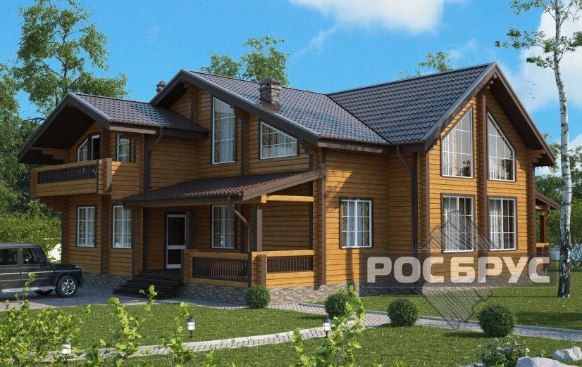 Проект дома из клееного бруса КБ-338, 14х17 м - главная