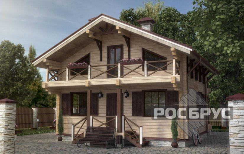 Проект дома из клееного бруса КБ-137 - главная