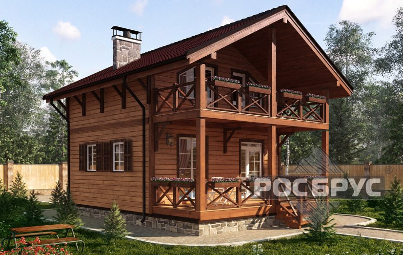 Проект каркасного дома КК-111, 10,7 х 7,0 м - главная