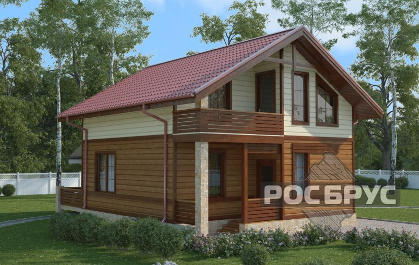 Проект каркасного дома КК-127, 9х7 м - главная