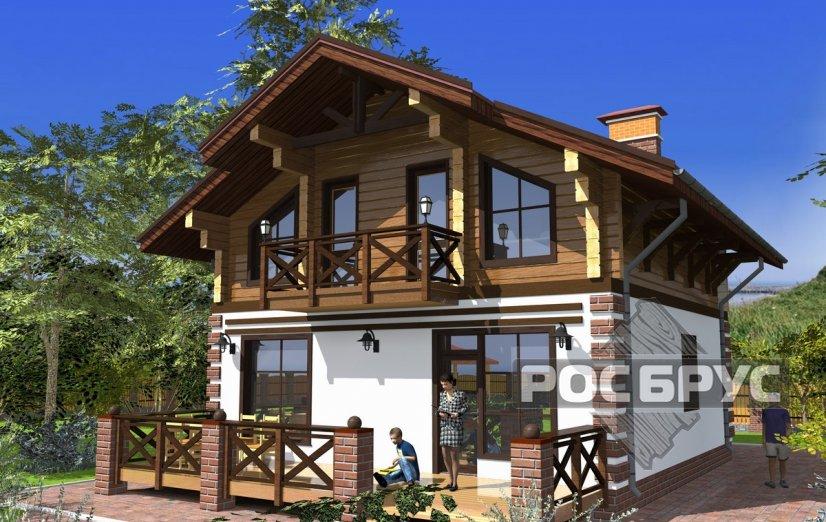 Проект комбинированного дома КД-142, 12х8 м - главная