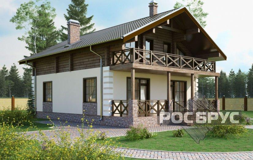 Проект комбинированного дома КД-193, 9х12 м - главная