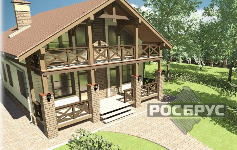 Проект каркасного дома КК-192, 9х10 м - главная