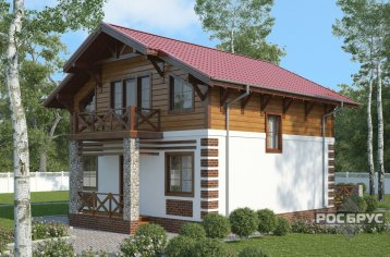 Проект каркасного дома КК-143, 10х8 м