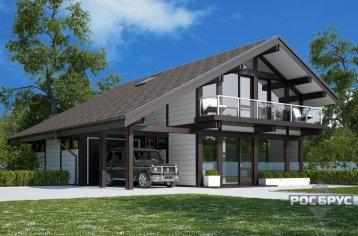Проект фахверкового дома ФД-224, 12,5х11,3 м