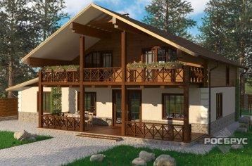 Проект комбинированного дома КД-278, 15,0 х 14,5 м