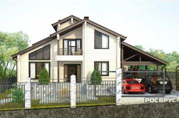 Проект дома из клееного бруса КБ-226, 11х12 м