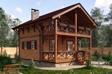 Проект каркасного дома КК-111, 10,7 х 7,0 м