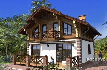 Проект комбинированного дома КД-142, 12х8 м