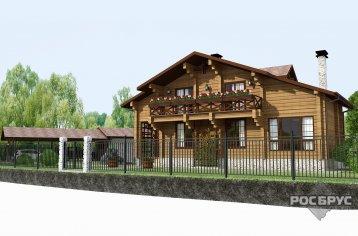 Проект дома с баней из клееного бруса КБ-240-103, 14х11 м