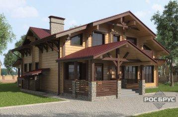 Проект дома из клееного бруса КБ-272, 10,5х13,5 м