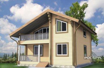 Проект дома из клееного бруса КБ-146, 8,5х10 м