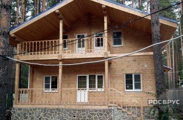 Проект дома из клееного бруса КБ-153, 9х10 м