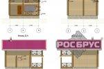 """Проект бани из клееного бруса """"КБ-96"""", 2 этажа. - 1"""