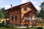 Проект каркасного дома КК-111, 10,7 х 7,0 м - 1