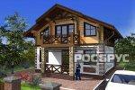 Проект комбинированного дома КД-142, 12х8 м - 1